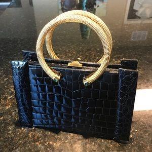 Black alligator vintage Finesse La Model bag